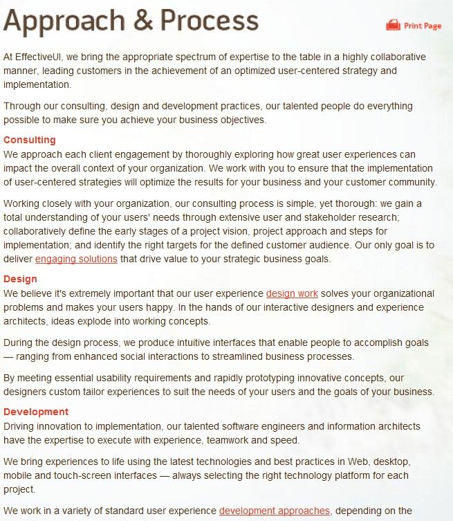 EUI Approach Process
